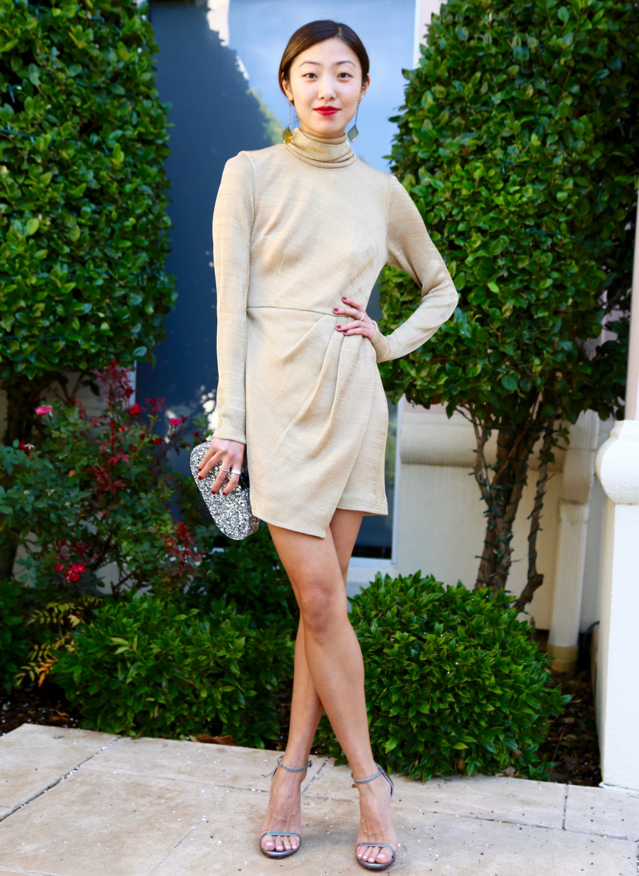 Gold turtleneck Dress