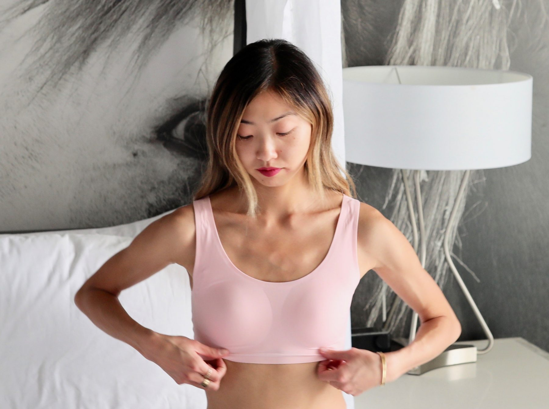 a25290dad8 The Beauty Relax Wireless Bra has AIRism fabric for a smooth